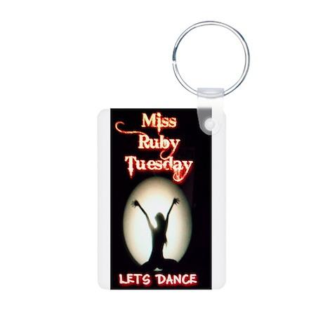 Miss Ruby Tuesday Aluminum Photo Keychain