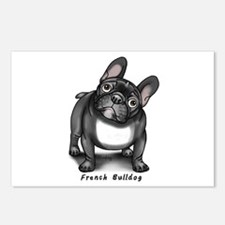 Cute French bulldog pied Postcards (Package of 8)