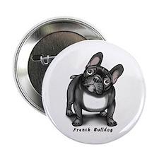 """Unique Brindle french bulldog 2.25"""" Button"""