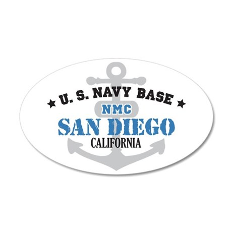 US Navy San Diego Base 38.5 x 24.5 Oval Wall Peel
