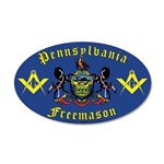 Masonic Pennsylvania 35x21 Oval Wall Peel