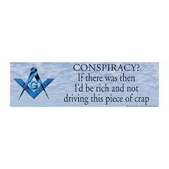 Conspiracy? Masonic 20x6 Wall Peel