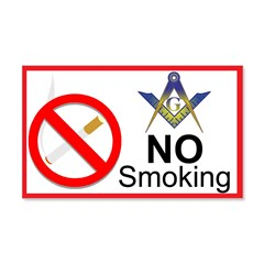 No Smoking Masonic 20x12 Wall Peel