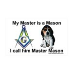 Masonic Dog House 35x21 Wall Peel