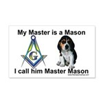 Masonic Dog House 20x12 Wall Peel