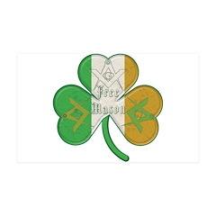 The Masons Irish Clover 35x21 Wall Peel
