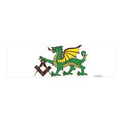 Green Dragon 20x6 Wall Peel