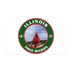 Illinois Free Mason 35x21 Wall Peel