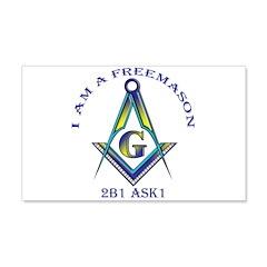 I am a Freemason 20x12 Wall Peel