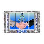Masonic Welcome to my Home 35x21 Wall Peel