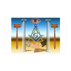 Masonic 35x21 Wall Peel