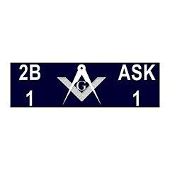 Masonic 2b1ask1 20x6 Wall Peel