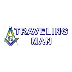 Masonic Traveling Man 36x11 Wall Peel