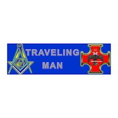 Masonic Traveling Man 32 20x6 Wall Peel