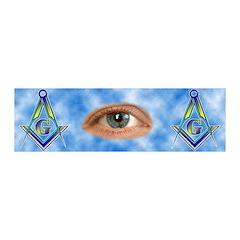 Masonic All Seeing Eye Clouds 20x6 Wall Peel