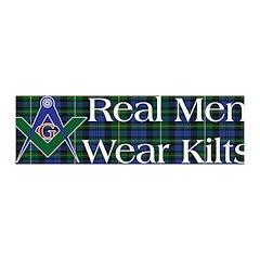 Masonic Real Men Wear Kilts 36x11 Wall Peel