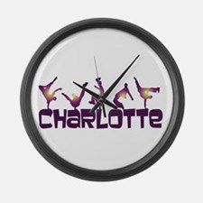 Street Dancing CHARLOTTE Large Wall Clock