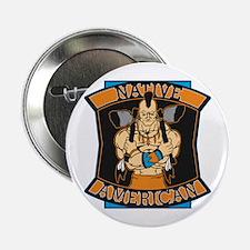 "Native American Warrior 2.25"" Button"