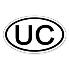 UC - Initial Oval Oval Decal