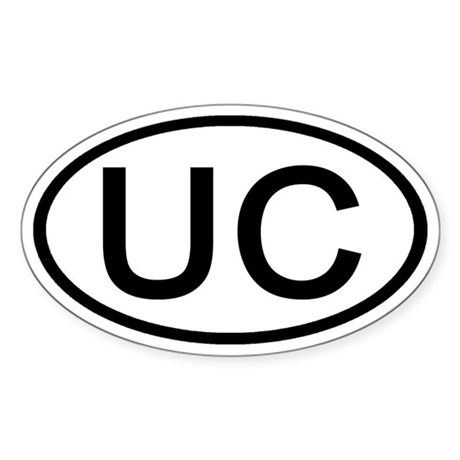 UC - Initial Oval Oval Sticker