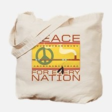 Peace for Every Nation Tote Bag