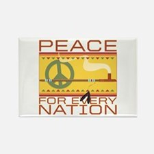Peace for Every Nation Rectangle Magnet