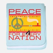 Peace for Every Nation baby blanket