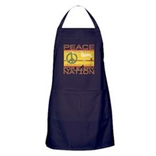 Peace for Every Nation Apron (dark)