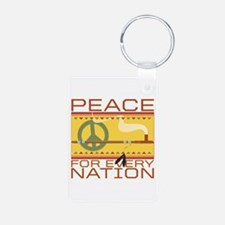 Peace for Every Nation Keychains