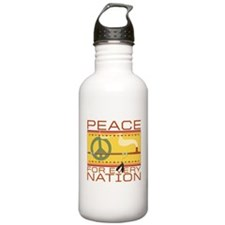 Peace for Every Nation Water Bottle