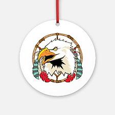Eagle Dream Catcher Round Ornament