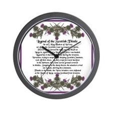 Thistle Legend Wall Clock
