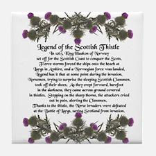 Thistle Legend Tile Coaster