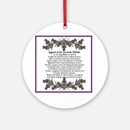 Thistle Legend Ornament (Round)