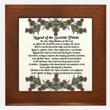 Thistle Legend Framed Tile