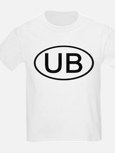 UB - Initial Oval Kids T-Shirt