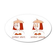 Amber Alert 22x14 Oval Wall Peel