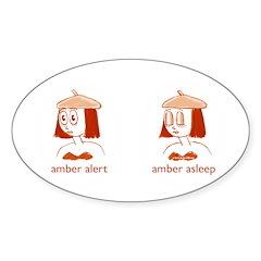 Amber Alert Sticker (Oval)
