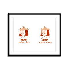 Amber Alert Framed Panel Print