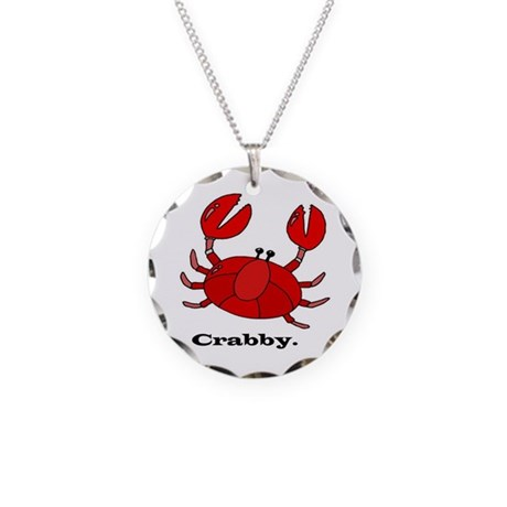 Crabby Necklace Circle Charm