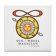 Sun / Wheel / Magician Tile Coaster