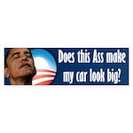 Obama Ass 2012 Sticker (Bumper)