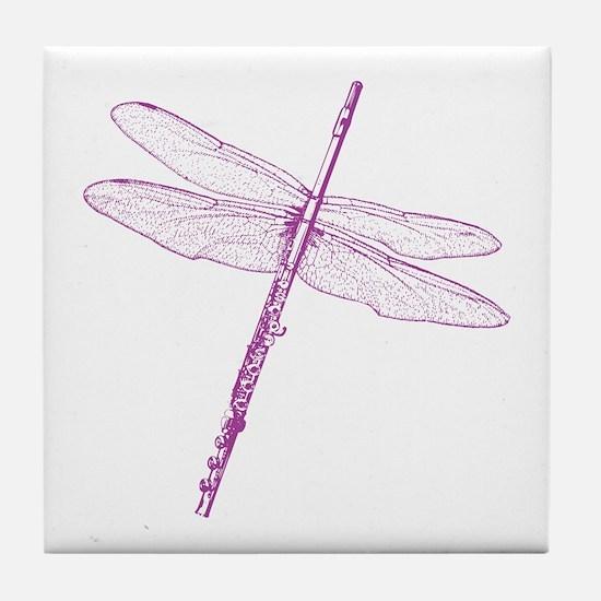 Dragonfly Flute Tile Coaster