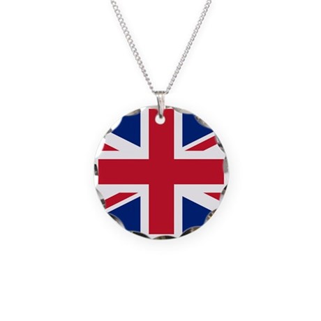 Great Britain Union Flag Necklace Circle Charm