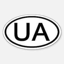 UA - Initial Oval Oval Decal