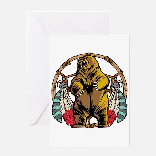 Bear Dream Catcher Greeting Card