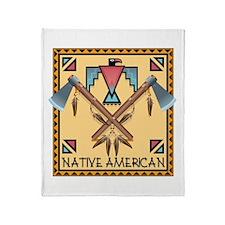 Native American Tomahawks Throw Blanket