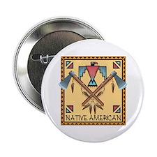 "Native American Tomahawks 2.25"" Button"