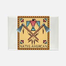 Native American Tomahawks Rectangle Magnet