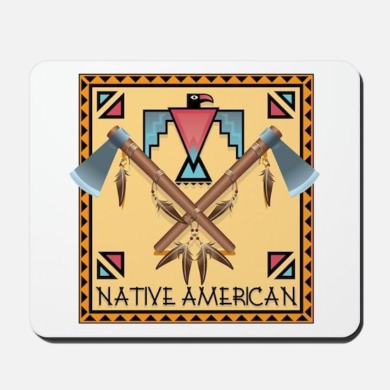 Native American Tomahawks Mousepad